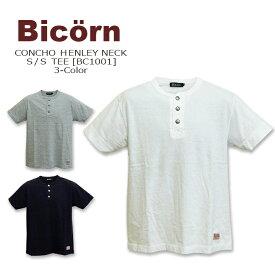 Bicorn(バイコーン) CONCHO HENLEY NECK S/S TEE @ 3color [BC1001] コンチョボタン ヘンリーネック コットン Tシャツ 半袖【smtb-KD】