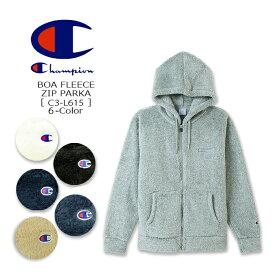 CHAMPION(チャンピオン) Fleece Zip Hooded Jacket [C3-L615] BOA BASIC ボア フリース ジップフード ロゴ パーカ 無地 アメカジ メンズ【\6,400】【smtb-kd】【RCP】