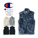 CHAMPION(チャンピオン)Boa Fleece Vest [C3-L617] BASIC ボア フリースベスト ジップ ロゴ 無地 アメカジ 【\5,400】【smtb-kd】【RCP】
