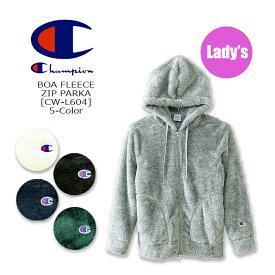 CHAMPION(チャンピオン)-Lady's-Boa Fleece Zip Parka [CW-L604] レディス BASIC ボア フリース パーカー ジップ ロゴ 無地 アメカジ 【\6,400】【smtb-kd】【RCP】