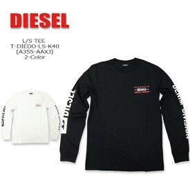 DIESEL(ディーゼル) L/S TEE @T-DIEGO-LS-K40[A355-AAXJ] 2020 FW 長袖 メンズ Tシャツ コットン クルーネック 袖プリント【\11,000】【smtb-kd】【RCP】