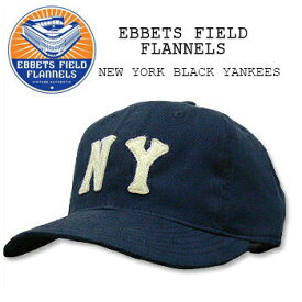 EBBETS FIELD FLANNELS(エベッツ フィールド フランネルズ) BASEBALL CAP[#3] NEW YORK BLACK YANKEES Navyキャップ/帽子/野球 別注 フリーサイズ USA【RCP】