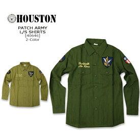 HOUSTON(ヒューストン)PATCH ARMY L/S SHIRT[40580]F.T.USAF コットン ミリタリー 長袖シャツ メンズ アメカジ フライングタイガー FLYING TIGER【smtb-kd】【RCP】【\6,900】