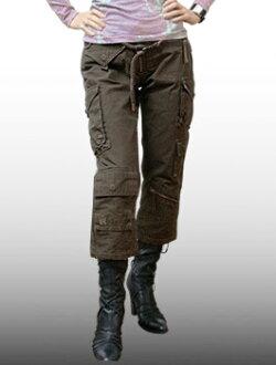 """A.KURTZ (발 커 츠)-Lady 's-Pants """"NAM"""" @Brown/밀리터리 팬츠 여성용 코 튼 16"""