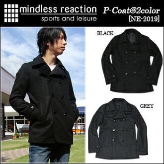 mindless reaction(마인드레스리아크션) P-Coat[NE-2019] P코트 피코트 멜톤 울 맨즈 16.8 10 P03Dec16