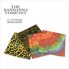 THE BANDANNA COMPANY(バンダナカンパニー) BANDANA[TBC002/TBC005]4-Color バンダナ デジカモ ペイズリー タイダイ レオパード【smtb-kd】【RCP】