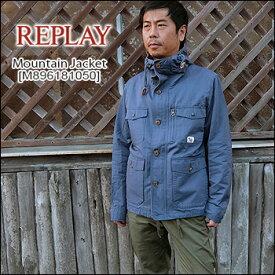 REPLAY(リプレイ) Mountain Parka Jacket[M896181050] マウンテンコート パーカ ジャケット 綿 メンズ アウター【smtb-kd】【RCP】【\45,000】