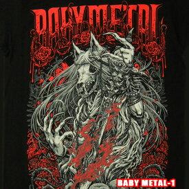 ROCK TEE BABY METAL-1[ベビーメタル] Rose Wolf Men's Reguiメール便送料無料 ロックTシャツ/バンドTシャツ 【smtb-kd】【RCP】英国/米国のオフィシャルライセンス