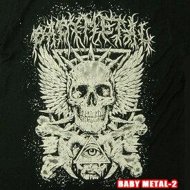 ROCK TEE BABY METAL-2[ベビーメタル] Crossbone Eye Skeletメール便送料無料 ロックTシャツ/バンドTシャツ 【smtb-kd】【RCP】英国/米国のオフィシャルライセンス