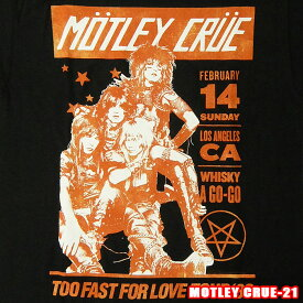 ROCK TEE MOTLEY CRUE-21[モトリークルー] VINTAGE WHISKY A GO GO メール便送料無料 ロックTシャツ/バンドTシャツ 【smtb-kd】【RCP】英国/米国のオフィシャルライセンス