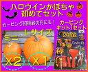 10/27出荷!★ハロウィン用かぼちゃ初めてセット★カービングに初挑戦!【L1個+ミニ2個】+【カービングキット1セッ…