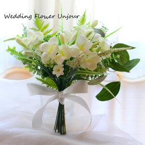 プルメリア クラッチ ナチュラル グリーン ブーケ/ブートニア 白 花束 ウェディング/海外挙式/ガーデンウェディング