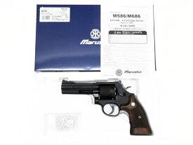 [マルシン] S&W M586 Xカートリッジ 木製グリップモデル 6mmBB ガスリボルバー マットブラックABS 022105/[新品]/マットブラックABS/ガスガン