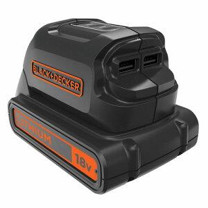 BLACK&DECKER[ブラック&デッカー]18VUSBアダプター[本体のみ充電器別売り]BDUSB18