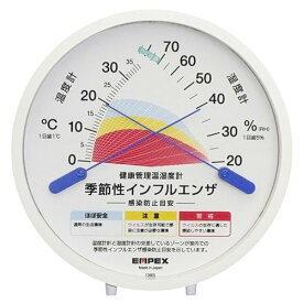 EMPEX TM-2584 感染防止目安温室時計 季節性インフルエンザ 感染防止目安温・湿度計 置掛け兼用 〔エンペックス気象計〕