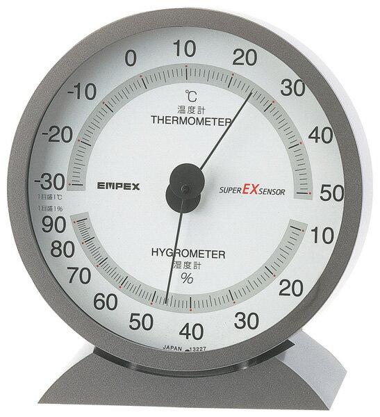 エントリーで+P5倍! EMPEX EX-2717 スーパーEX高品質温・湿度計 〔エンペックス気象計〕