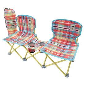 ロゴス LOGOS ペアチェア プラス-AI(チェッカー) 73173097 4981325530457 チェア イス 椅子 WHATNOT