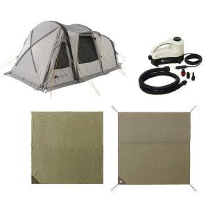 ロゴス(LOGOS) テント グランベーシック 2ルームテント エアマジックPANELトンネルドームセット 71805594 4981325536381 ツールームテント ファミリーテント ドゥーブルテント WHATNOT