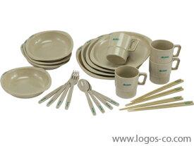 ロゴス(LOGOS) 81285003 箸付きディナーセット4人用 お箸付き食器セット