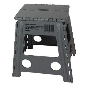 WHATNOT 折りたたみチェア グレー フォールディング ステップ スツール アウトドア 椅子 踏み台 脚立 洗車 折り畳みチェア