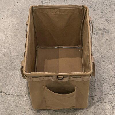WHATNOTワンタッチバケットサンドベージュ(帆布)OB-02-SB折り畳みケース収納バケット収納ケース4962308970200