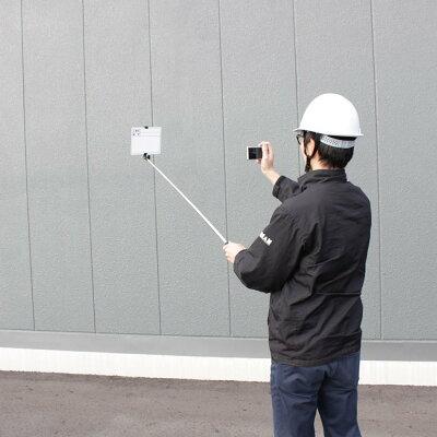 ビッグマン1人撮り用伸縮式工事黒板工事黒板便利な2面タイプ[ホワイトボード・グリーンボード]BSB-175W工事用写真