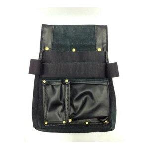 【送料無料】黒革釘袋金鋲中工具差付 PK-920 作業工具 作業雑貨 BIGMAN(ビッグマン)