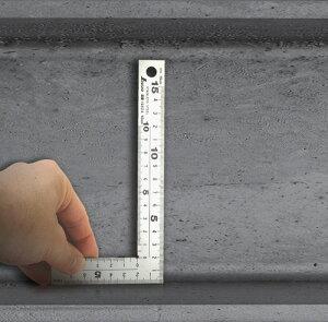 【10%OFFクーポン付】【ネコポス対応】シンワ測定 曲尺厚手広巾 シルバー15cm建築・鉄工 L型定規