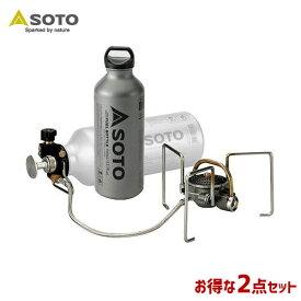 SOTO/ソト MUKAストーブ&フューエルボトル2点セット アウトドア・キャンプ用品 SOD-371 SOD-700-07