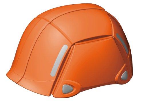 TOYO BLOOM オレンジ NO.100 防災用折りたたみヘルメット ブルーム 安全 地震 工事 コンパクト 防災グッズ