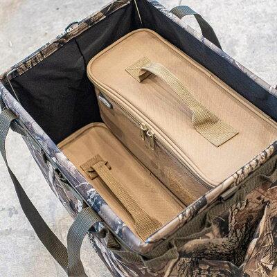 WHATNOTマルチ収納ケース防水加工アウトドアツールボックス調理器具入れ調味料ケースMC-01-SB