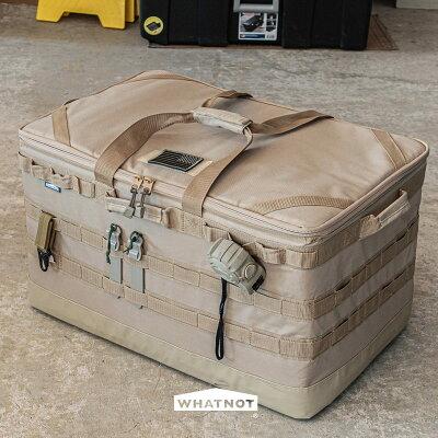 WHATNOTギアコンテナGC-01-SB収納コンテナツールボックスアウトドア収納袋ソフトコンテナマルチ収納ケースアウトドアコンテナアウトドアコンテナ