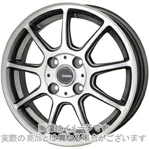 14インチ サマータイヤ セット【適応車種:ミラジーノ(L650系)】HOT STUFF Gスピード P01 ガンメタポリッシュ 4.5Jx14Bluearth AE−01 155/65R14