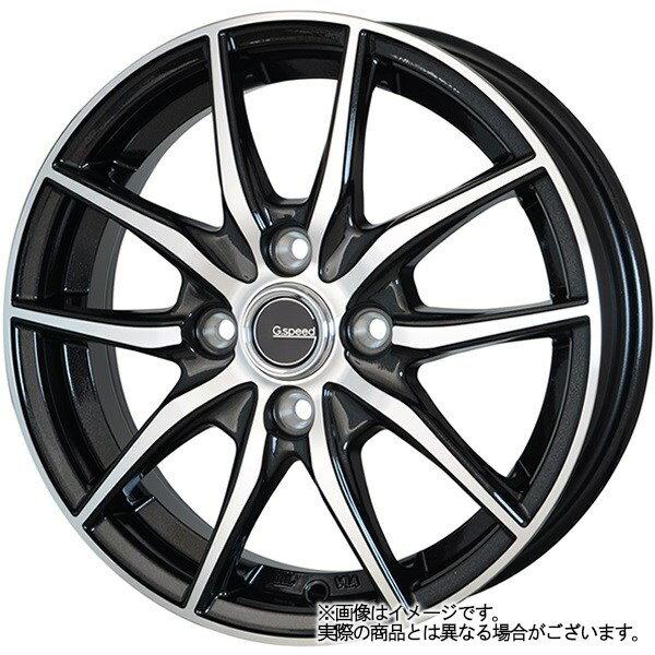 13インチ サマータイヤ セット【適応車種:ミラジーノ(L650系)】HOT STUFF Gスピード P02 メタリックブラックポリッシュ 4.0Jx13Bluearth AE−01 145/80R13