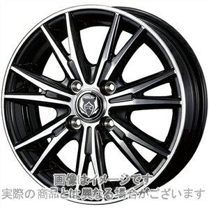 14インチ サマータイヤ セット【適応車種:ミラジーノ(L650系)】WEDS ライツレー DK ブラックメタリックポリッシュ 4.5Jx14Bluearth AE−01 155/65R14