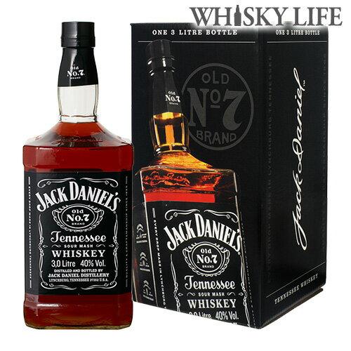 4本まで同梱可能ジャックダニエル ブラック 正規品 箱付 3L 3000ml[長S] ウイスキー ウィスキー アメリカン テネシー ビッグサイズ
