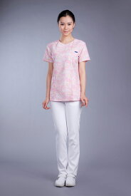 【FOLK】7019SC【ジップアップスクラブ 白衣 半袖上衣】