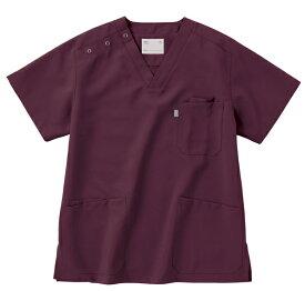 スクラブ 白衣 男女兼用 unite×ミズノ ジャケット 半袖 MZ-0021 スクラブ白衣