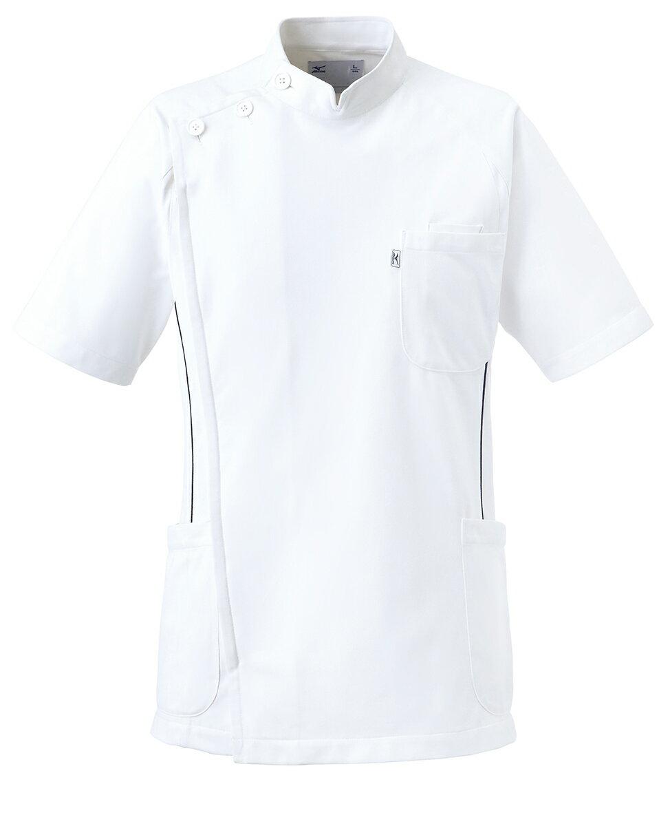 【unite×ミズノ】白衣 メンズ ケーシー ジャケット MZ-0049 半袖上衣 KC 男性