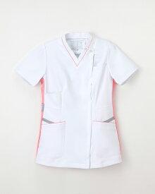 【ナガイレーベン 白衣】FT-4597 レディーススクラブスタイル上衣 白衣 ナースウェア