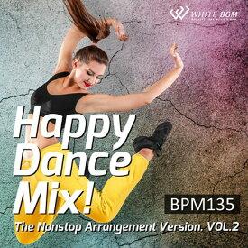 【店内音楽CD】ハッピーダンスミックス!vol.2 -BPM135-(20曲 約64分)♪エアロビクスやフィットネスで使えるBGM 著作権フリー音楽 BGM CD  面倒な著作権処理不要