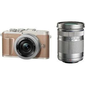 オリンパス OLYMPUS PEN E-PL10 ミラーレス一眼カメラ ダブルズームキット ブラウン ズームレンズ+ズームレンズ PENEPL10EZダブルズーム 正規品