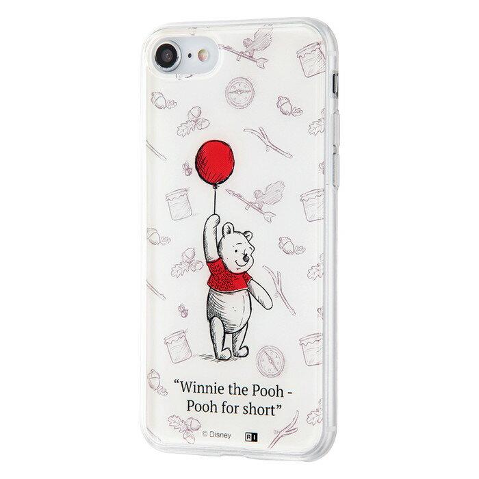 iPhone8 ケース iPhone7ケース プーさん ディズニー キャラクター iphone7 カバー TPUケース+背面パネル プーと大人になった僕 /小さな人気者