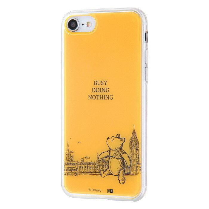 iPhone8 ケース iPhone7ケース プーさん ディズニー キャラクター iphone7 カバー TPUケース+背面パネル プーと大人になった僕 /ひとやすみ