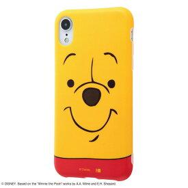 iPhone XR ケース ディズニー キャラクター TPUソフトケース クローズアップ / プー アイフォン カバー