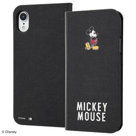 iPhone XR ケース 手帳型 ディズニー キャラクター 手帳型ケース マグネット スリム / ミッキーマウス アイフォン カバー