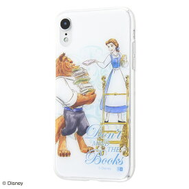 iphone xr ケース ディズニー プリンセス キャラクター TPUケース+背面パネル 美女と野獣 /ライブラリー