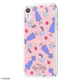 iphone xr ケース ディズニー キャラクター TPUケース+背面パネル 白雪姫 /パウダールーム アイフォンxr カバー ディズニープリンセス