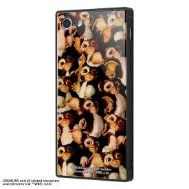 iPhone8 iPhone7 ケース スクエア グレムリン 耐衝撃 ガラスケース KAKU /TIGHT