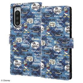 Xperia5 ケース 手帳型 ディズニー キャラクター 手帳型ケース マグネット / ドナルド